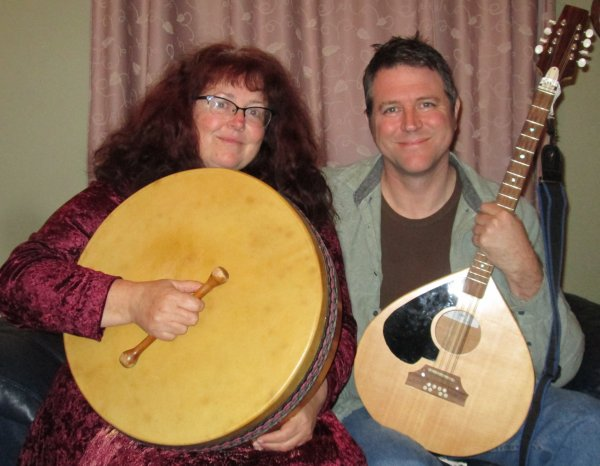 Clare Senior & Nick Johnston brandishing instruments